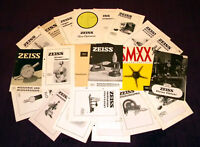ZEISS Microscopes - Lot of 28 vintage brochures, optical precision tools
