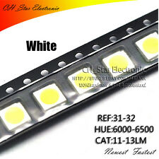 1000pcs 5050 2220 Plcc 6 Cold White Light Smd Smt 3 Chips Ultra Bright Led