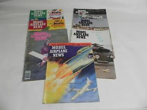 1952 1969 1970 1974 1975 1977 SEVEN ISSUES OF MODEL AIRPLANE NEWS MAGAZINE COOL
