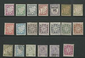 MONACO POSTAGE DUE SELECTION M/MINT & USED