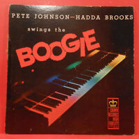 PETE JOHNSON & HADDA BROOKS SWING THE BOOGIE LP 1958 MONO GREAT COND! VG+/VG!!