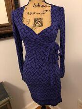 French Connection Purple Black Designer Dress Xs 2 4 $188 Euc Winter Wrap
