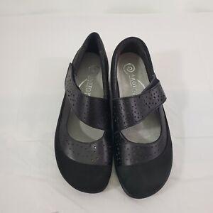 NAOT Aroha Black Mary Jane Comfort Cushioned Leather Upper Shoes Size 37 (6)