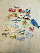 MELISSA & DOUG PUZZLE piece REPLACEMENT Part animal sea life vehicle peg chunky
