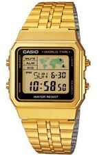 Casio A-500WEGA-1 Orologio Uomo Vintage, Crono, Luce, Timer, Sveglie World Time