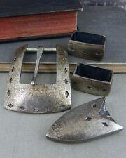 Douglas Magnus Santa Fe Sterling Silver Belt Buckle Set