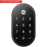 Nest x Yale Lock with Nest Connect, Oil Rubbed Bronze + 1 Year Extended Warranty