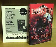 Wolf Island - Darren Shan **Signed UK 1st/1st** 2008 + Flyer