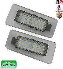 2 X KIA NUMBER PLATE LIGHTS CERATO LED WHITE 18SMD CANBUS ERROR FREE
