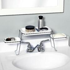 New Zenith Products Small Spaces Over the Faucet Shelf in White