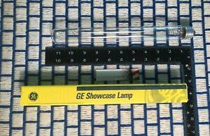 new GE 75 watt T10 showcase CLEAR 120v Light BULB tube 75T10 incandescent 75w