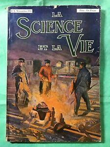 EDITION ORIGINALE REVUE LA SCIENCE ET LA VIE N°8 DE NOVEMBRE 1913