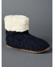 Gap Women Cable Bootie Slippers, navy, size L (9-10), NWT