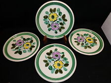 "Boch Belgium IN THE MOOD 10 1/4"" DINNER PLATES Lot x 4 Handpainted Floral"