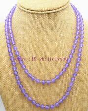 "Charming 6mm lavender jade beads Gemstone Necklace 36 """