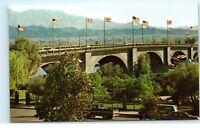 Lake Havasu City Arizona AZ Lake Havasu London Bridge Truck Vintage Postcard A3