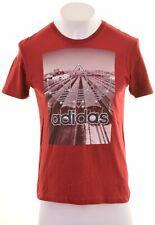 Adidas Homme T-Shirt Graphique Haut Moyen Rouge GP12