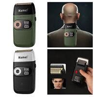 KM-2026 Sans Fil Électrique Rasoir USB Barbe Trimmer Rasage Machine Rasoir