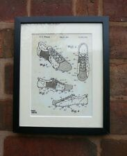 "USA Patent drawing Vintage SOCCER FOOTBALL BOOT Mounted PRINT 10"" x 8"" 1980"
