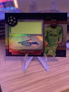 andre onana Patch Auto 10/75 Topps UCL Museum 2021 Ajax Mint