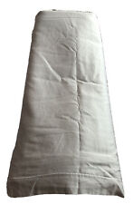 Retired Pottery Barn Cotton Sateen King Cal King Bed Duvet Cover Silver Gray EUC