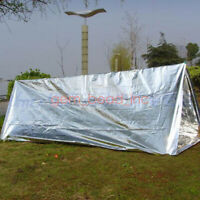 2 Person Emergency Survival Mylar Thermal Shock Cold Weather Shelter Tube Tent C