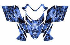 POLARIS SHIFT RMK DRAGON wrap graphics sled deco kit #9500 Blue Zombie