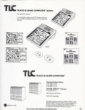 Vintage Ad Sheet #3486 - 1983 Mattel - Tlc Teach And Learn Computer