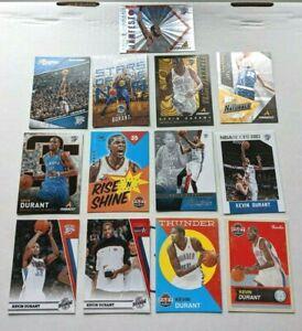 Kevin Durant (13) Card Lot: Past & Present, Pinnacle, Prestige, Hoops