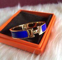 New blue Popular Stylish Stainless Steel Anti allergic H-shaped Buckle Bracelet