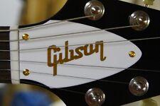 FLYING V TRUSS ROD COVER name plate for Gibson guitar (White / Gold)