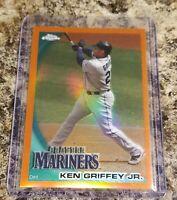 Ken Griffey Jr ORANGE REFRACTOR #28 SP 2010 Topps Chrome