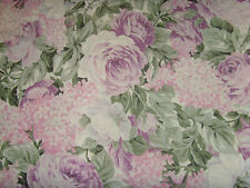 Stunning roses and garden flowers 2 yds NEW fabric material chic Coventry WOW
