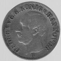 """1/12 Thaler 1853 B """"Georg V."""" in sehr schön"""