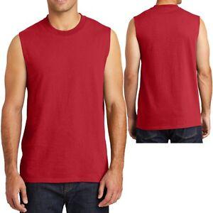 Mens Sleeveless Muscle T-Shirt Cotton Gym Run Basketball S-XL, 2XL, 3XL, 4XL NEW