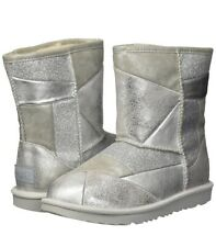 Ugg Classic Toddler Kids Girl Boot Size 6 Silver Patchwork