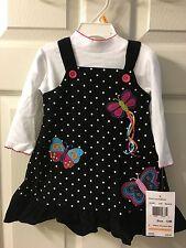 NWT GOOD LAD Of Philadelphia Girls Size 12 Months Jumper Bodysuit Set  Cotton