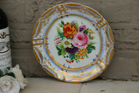 German KPM porcelain marked hand paint floral plate
