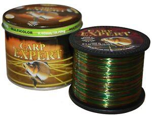 (0,199€/ 10m) CARP EXPERT MULTICOLOR Angelschnur 1000m Karpfen MONOFIL Fishing