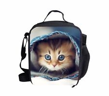 Cute Cartoon Cat Insulated Lunch Bag Thermal Lunchboxes Box School Picnic Travel