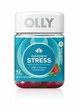 Olly Goodbye Stress Gummy Supplement with GABA L-THEANINE and Lemon Balm; Ber...