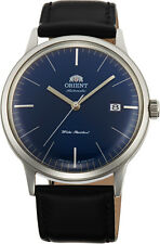 Orient FAC0000DD Men's Bambino Version 3 Leather Band Blue Dial Automatic Watch