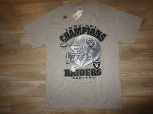Oakland Raiders 2002 AFC Champions Super Bowl NFL Shirt Medium M Mens NEW nwt