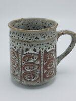 "Vintage Splatter Glaze Ceramic Mug 3 3/4""T X 3""D Beautiful!"