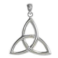 Sterling Silver Celtic Triquetra Knot Pendant - Trinity Goddess - Irish Jewelry