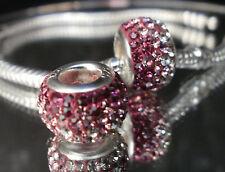 Bead Element Kristall Farben Rosa White Silber - plattiert für Armband 0201