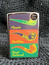 Brand New Zippo Apple Bulldog Bent Billiard Smoking Pipe Chrome Lighter
