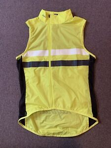 Rapha Brevet Yellow Gilet Medium No Pockets