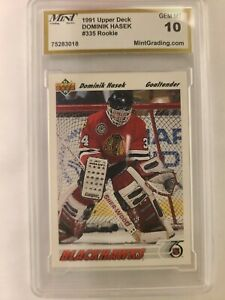 1991 Upper Deck Dominik Hasek #335 Hockey Card Rookie Graded Gem Mint 10!