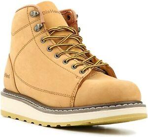 DieHard Men's Boots Wheat nubuck leather Round Soft Toe Lightweight Breathable